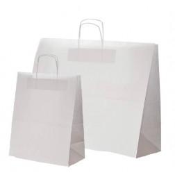 Papierkordeltasche - weiß